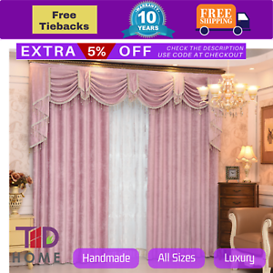 Image Is Loading Swag Pelmet Valance Pink Bedroom Curtains D Sheer