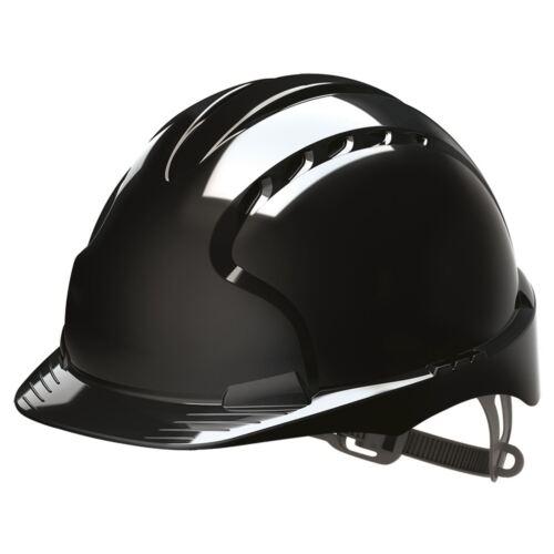 Jsp Schwarz Evo2 Belüftet Sicherheit Helm Schutzhelm Standard Peak Arbeit Ppe