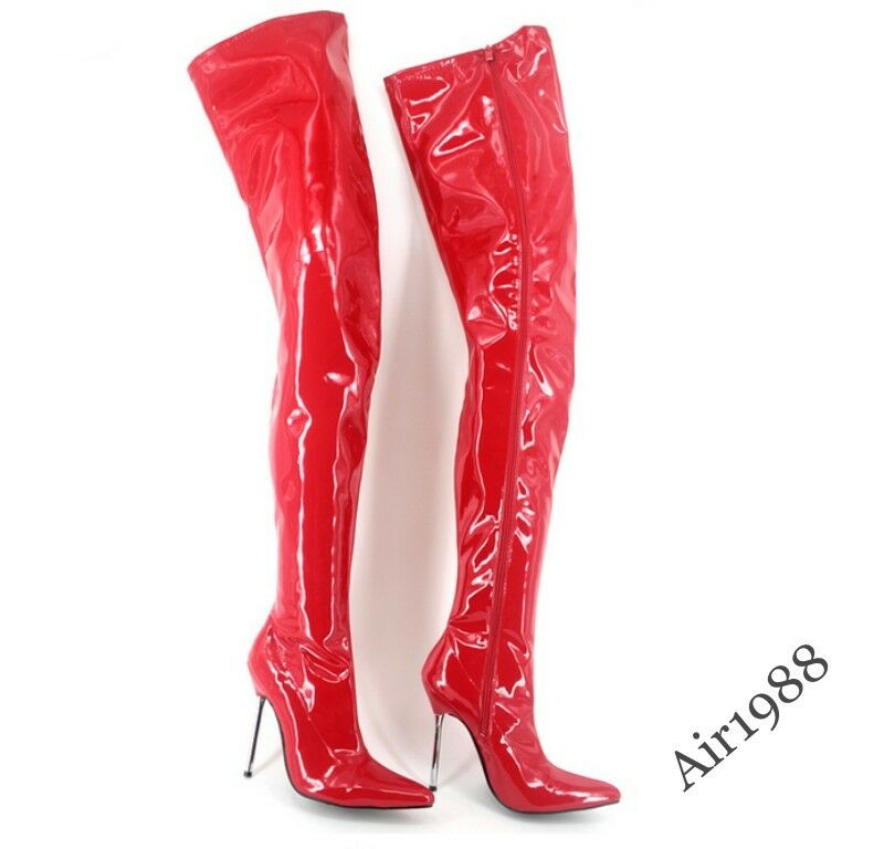 Sexy Sexy Sexy Dancing Womens Over Knee Thigh Boots Nightclub High Heel Leather shoes New cbd9f8