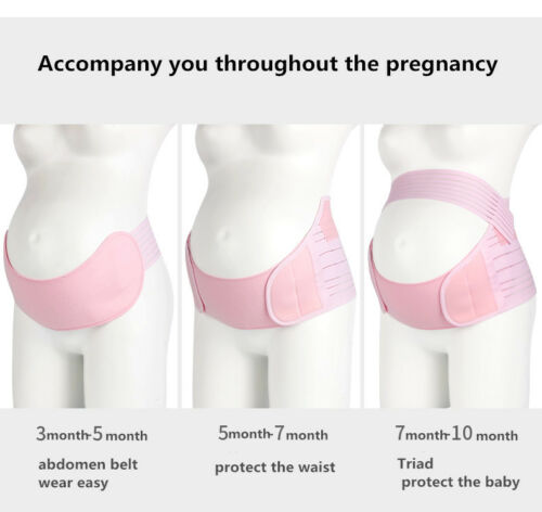 Women Maternity Pregnancy Belly Band Belt Support x 4 Colours S M XL L