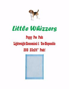 Details About Little Whizzers 200 23x24 Light Economical Single Use Puppy Training Pads