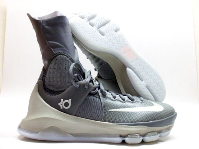 a4c1e8104863 Nike KD 8 Elite Tumbled Grey White Basketball Shoes 834185-001 Men s ...