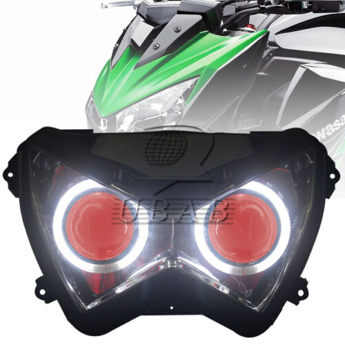 Red Headlight Assembly HID Projector For Kawasaki Z800 Z250 2013-2016  Z300 2016
