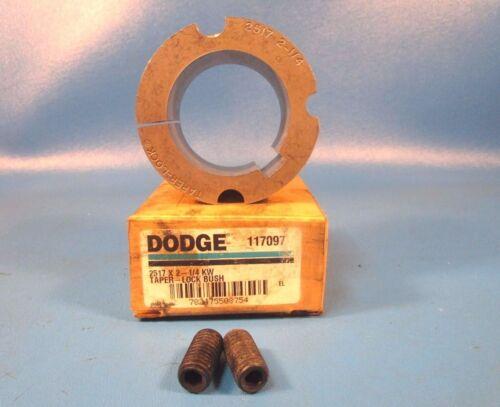 Dodge 117097 2517 X 2 1//4 KW Taperlock Bushing 2 1//4 in Bore