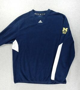 Michigan Wolverines Adidas ClimaWarm Hockey Fleece Pullover (Adult ...