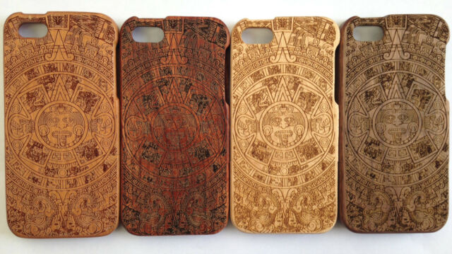 LUXURY CARVED HARD WOODEN PROTECTOR CASE SOLID WOOD FOR APPLE IPHONE SE 5/5S