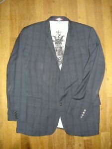 Détails sur Christian Lacroix veste de costume taille 56 100% laine super