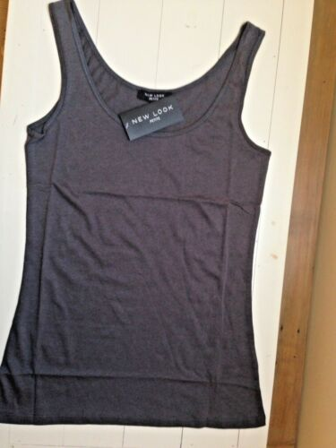 New Look Grey Vest Cotton Scoop Top BNWT New With Tags Size 10