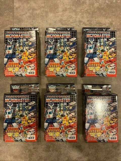 G1 Takara Transformer 2004 Reissue Micromaster Sixturbo New Complete in Box