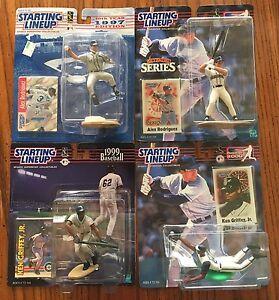 Starting Lineup SLU Ken Griffey Jr. & Alex Rodriguez  4 Figure LOT - Mariners