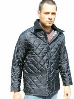Campbell Cooper Brand New Adults Mens Black Quilted Horse Riding Jacket Coat