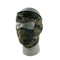 Digital Green Camo Neoprene Full Face Mask Biker Hunting Military Tactical Atv