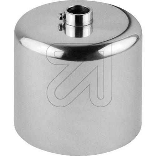 mit Stellring Ø 10mm Ø 63mm H60mm Metall-Baldachin  chrom  Zylinderform