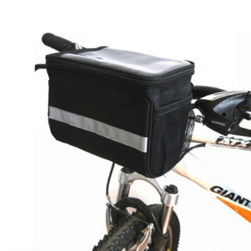 Bike Bicycle Cycling Outdoor Front Basket Pannier Frame Tube Handlebar Bag Tk
