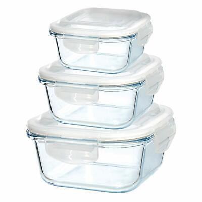 Grizzly Frischhaltedosen Set Quadratisch 8 x 500 ml Vorratsdosen mit Deckel 100/% Luft-und Wasserdicht