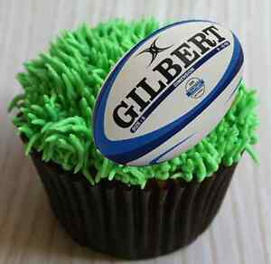 Cake Decorations Edible Balls : RUGBY BALLS - 30x1.5