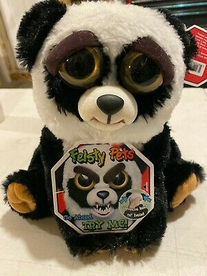 William Mark Feisty Pets Black Belt Bobby Plush Adorable Plush Stuffed Panda