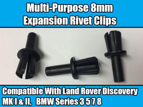 10x Clips para BMW serie 3 5 7 8 Umbral Parachoques Rueda arco guarnecido de Cable De La Batería Negro