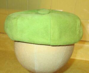Vintage-MR-John-Juniorette-Lime-Green-Suede-Beenie-Hat