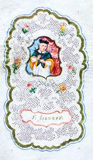 c1780 Spitzenbild auf Pergament Andachtsbild Johannes Sankt Johann