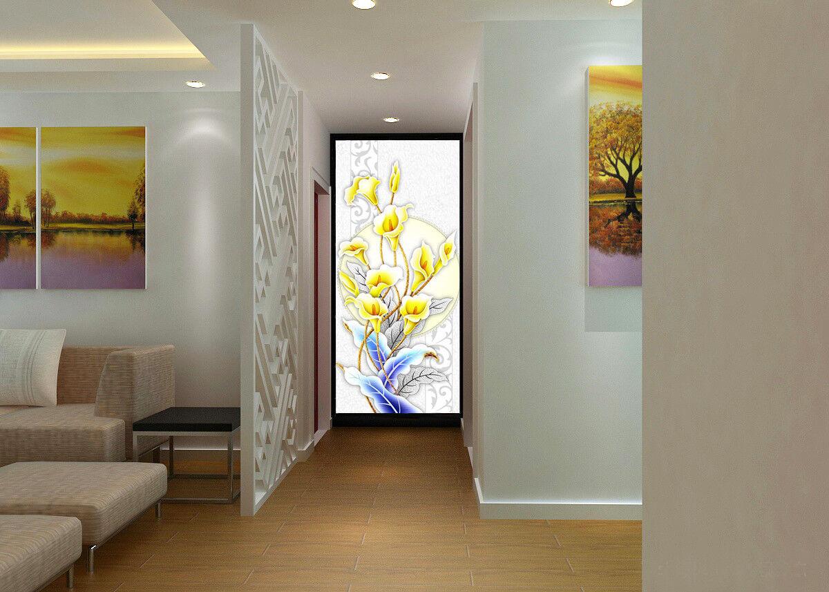 3D Yellow Flower Leaves 835 Wallpaper Mural Paper Wall Print Wallpaper Murals UK