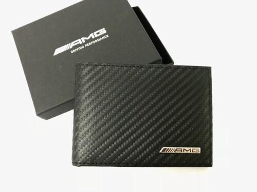 AMG mini monedero carbonleder negro