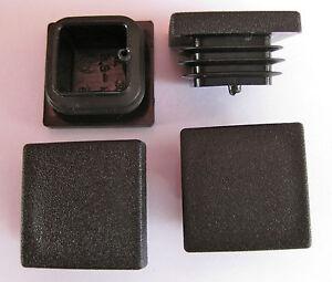 12 Quadrat Plastik Füße Rohr Einsatz 30x30mm 2.5-4.5mm Rohr Wand Dicke Stuhl