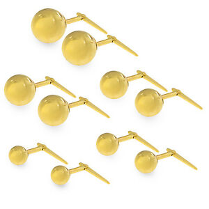 9ct yellow gold Andralok 2.5 mm ball stud earrings / Gift box included TcC4QAyUqM