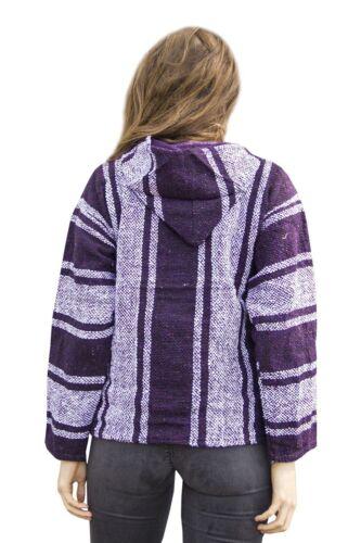 #500 Baja Hoodie Original Mexican Drug Rug 100/% Recycled Fibers Purple Jacket