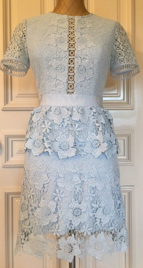 f929bf0e17 Ted Baker Dixa Layered Lace Skater Dress Size 4 USA 10 Color Baby ...