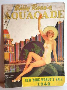 1940 Billy Rose's Aquacade Program-World Fair-Buster Crabbe Centerefold (C-6237)