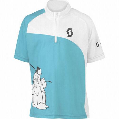 Scott Short Sleeve Junior Cycling Jersey Blue
