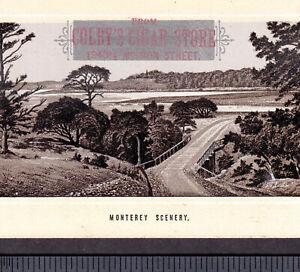 Monterey-Beach-1890-039-s-California-San-Francisco-Cigar-Store-Photo-Lith-Trade-Card