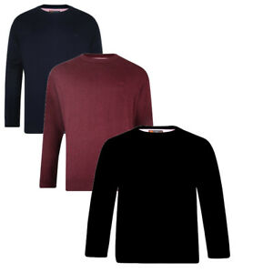New men's Mens KING BIG & TALL Knitwear CREW NECK 100%COTTON LONG SLEEVE JUMPER