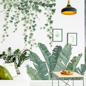 Plants-Green-Leaves-Living-Room-Bedroom-Decor-Vinyl-Wall-Stickers-Decal-PVC