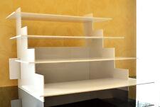 4 Tier Waren Präsenter Verkaufsregal Tisch Aufsteller Ständer Acryl Glas Weiß
