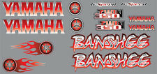 Banshee Decals RED Full Color Stickers Graphics 14pc ATV QUAD flames
