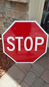 "STOP SIGN 18"" x 18"" Aluminum, Engineer Grade Reflective...LEGAL"