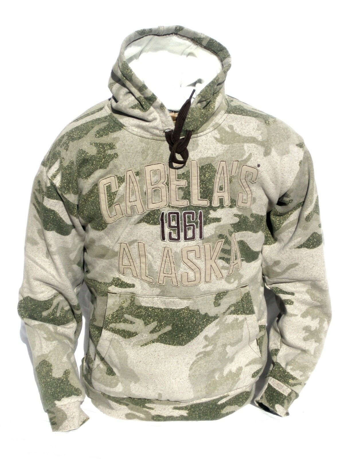 Cabela's Men's Alaska Logo Outfitter Camo Series Silent Layer Hunting Hoodie