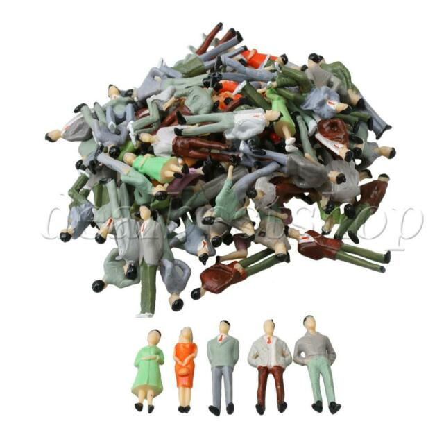 """1:48 /""""O/"""" Gauge Hand Painted Scale Model Figures 26 Pieces in 13 Poses"""