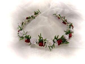 Kopfschmuck Haarschmuck Haarreifen Reifen Blumenkind Hochzeit