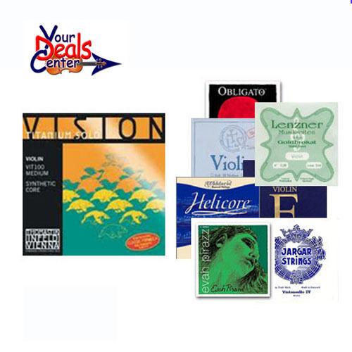 YDC Vision Titanium Solo Violin String set 4 4 A-D-G  Gift E-Luxe