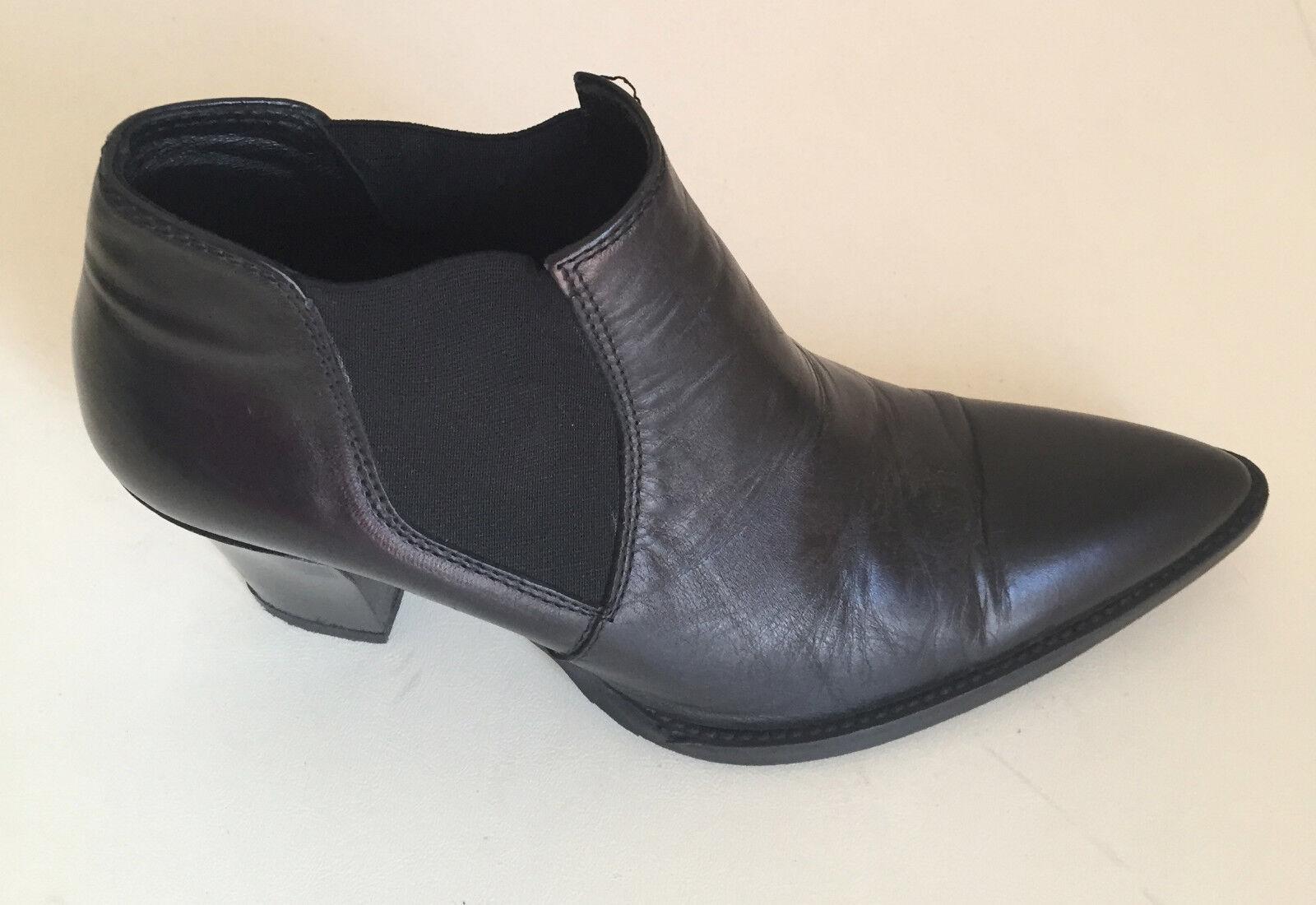 Le donne alla Caviglia in Pelle Nera DEIMILLE misura EU 36
