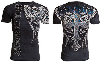 Xtreme Couture AFFLICTION Men T-Shirt PANTHER Cross Wings Tattoo Biker M-4XL $40