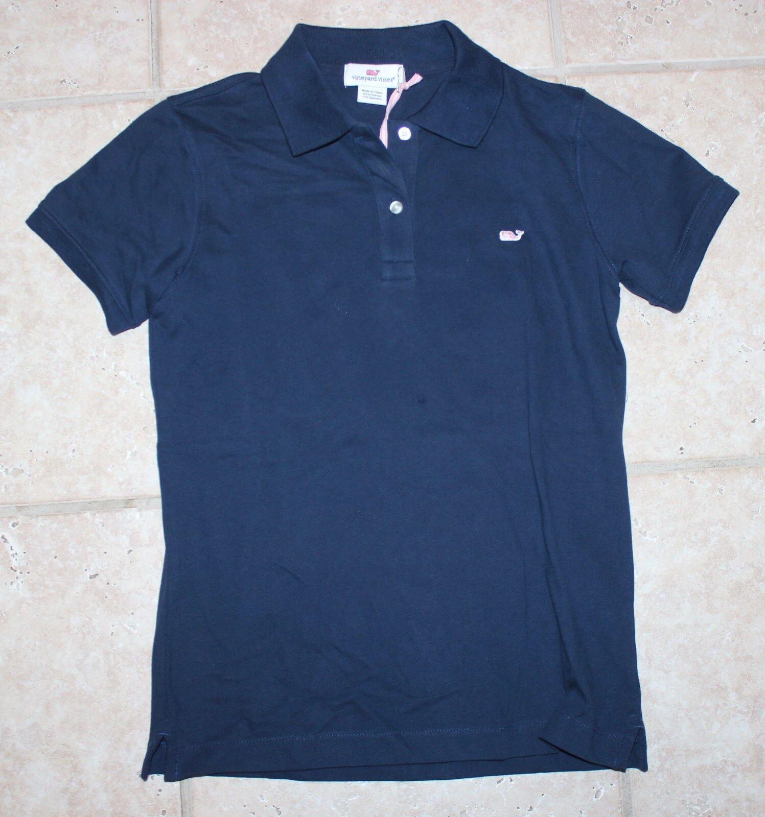 NWT Vineyard Vines damen Small Blau Blazer SS New Classic Solid Polo Shirt Top