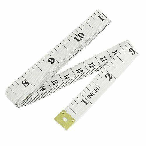 "1.5 M 60/"" Plastique Souple Règle Tailleur tissu corps mesure de mesure plat Ruban Blanc"