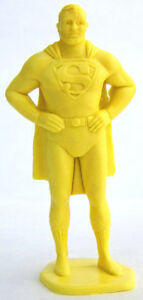 MARX-SUPERMAN-SUPERHERO-DC-Comic-Book-1950s-Classic-Toy-Figure-CREAM-FREE-SHIP