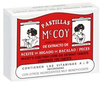 Pastillas Mccoy Cod/fish Liver Oil Extract Tablets 100 Ea (pack Of 4)
