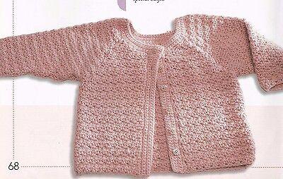 Crochet Pattern ~ BABY DUSTY ROSE SWEATER & BOOTIES ~ Instructions