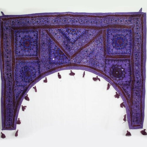 Türbehang Toran Thorang  Patchwork 100 cm Rundbogen Baumwolle,Wandbehang Lila rb